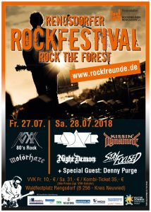 Rockfreunde Plakat 2018